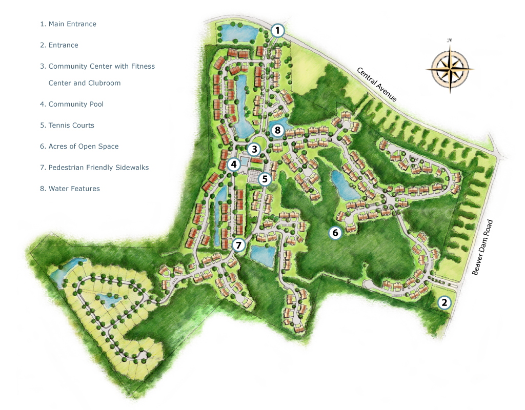 Apartment Layout Plans Forest Landing At Bethany Beach